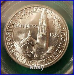 1935-s San Diego California Pacific Expo Half Dollar Pcgs Ms65 Ogh