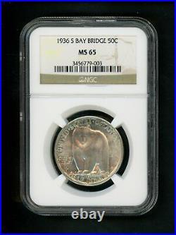 1936 S US Bay Bridge California Commemorative Half Dollar 50c NGC MS 65 UNC GEM