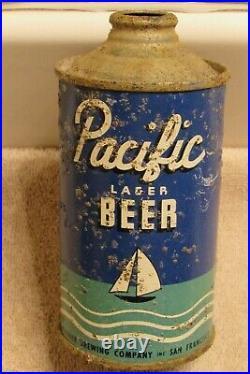 1937 PACIFIC Lager Beer IRTP lo-pro cone top Rainier San Francisco California
