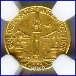 1939 Charbneau Gold Dollar HK-488 SC$1 / NGC MS63 / California Gold Type