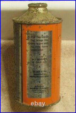1939 LIFESTAFF Beer IRTP cone top San Francisco California Chrome no gold