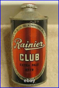 1940s RAINIER CLUB Beer IRTP lo-pro cone top San Francisco California