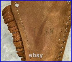 1950 Cross Draw Leather Double Holster Rig by Keyston Bros. San Francisco Calif