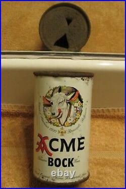 1950s ACME BOCK Beer, Flat Top beer can, San Francisco, California