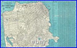 1952 Thomas Brothers Map or Plan of San Francisco, California