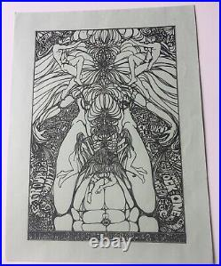 1967 Bedrock One California Hall San Francisco Handbill 3/5 Scarce