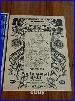 1967 Haight Ashbury Karmic Bail Fund California Hall, San Francisco Handbill