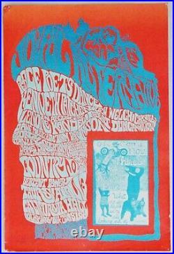 1967 Poster Joyful Alternative Peace Poets Dance California Hall, San Francisco