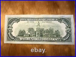 1981 (L) $100 One Hundred Dollar Bill Federal Reserve Note SF Old Vintage Money