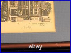 1984 Martin Tang Artist Signed Steiner St San Francisco California Etching Print