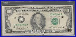 1990 (L) $100 One Hundred Dollar Bill Federal Reserve Note San Francisco Vintage