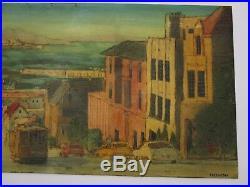48 Inch Robert Farrington Painting Large San Francisco California Regionalist