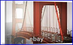 ARTCANVAS Fog in San Francisco California Golden Gate Bridge Canvas Art Print