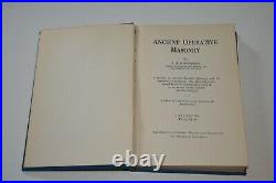 Ancient Operative Masonry by S. R. Parchment 1930 1st Edition HC Occult VERY RARE
