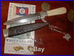 Antique American Bowie/Dirk knife California gold rush San Francisco