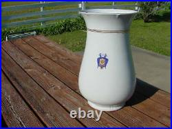 Antique Palace Hotel San Francisco Ironstone 20 Inch Floor Vase by Bauscher Bros