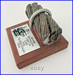 Antique San Francisco Cable Car Authentic Paper Weight Rail Section Steel Rope