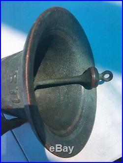 Antique Us Greenberg San Francisco California Bronze Bell