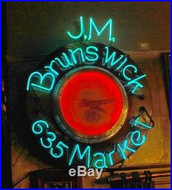 Antique/Vintage Neon Sign for J. M. Brunswick in San Francisco, California