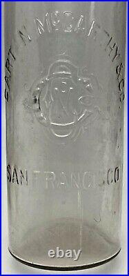 Antique Western Glass Whiskey Cartan Mc Carthy San Francisco California