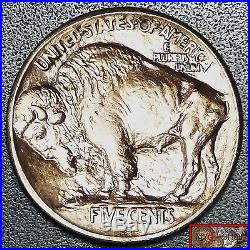 Brilliant Unc 1913-s Type-i Buffalo Nickel Ms, Ms, Full Horn & Date, Lustrous