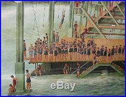 C. 1900 SAN FRANCISCO SUTRO BATHS BATHHOUSEHUGE 78x80 ORIGINAL BILLBOARD POSTER