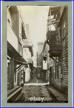 Ca. 1888 CHINATOWN BACK ALLEY, CHINESE in SAN FRANCISCO CA CALIFORNIA by TABER