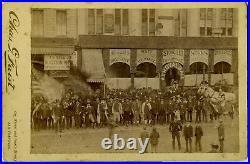 Cabinet Card California San Francisco Street Scene Ca. 1880