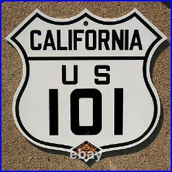 California CSAA US route 101 highway road sign auto club AAA San Francisco