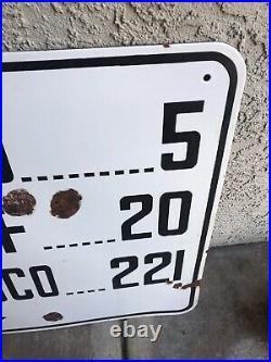 California auto association san francisco porcelain road sign 30s/40s Original