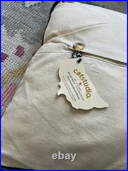 Catstudio Pillow CALIFORNIA Hand Embroidered 20x20 New San Francisco Hollywood