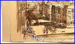 Checkley Bay From Russian Hill San Francisco Watercolor Painting California