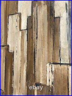 Cityscape MCM painting SCOTT KUHNLY California Bridge San Francisco 24x48 1963