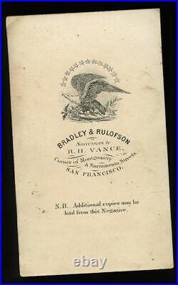 Civil War Navy Surgeon San Francisco California Photographer 1860s CDV Photo
