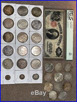Estate Lot Sale Old Rare Us Currency Silver Coins