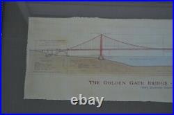 Famous Bridges The Golden Gate Bridge Dedicated May 27, 1937 Framed Craig Holmes