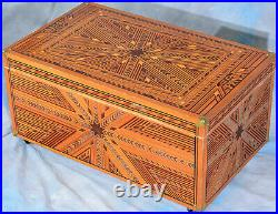 Folk Parquetry Locker Trunk Hope Chest made in Oakland California 1940's ONE O