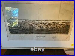 Framed Map of San Francisco 1852 Published for History of the World Henry Bill