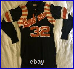 GAME-WORN 1960s AUTHENTIC San Francisco BAY BOMBERS Orange-and-Brown Jersey #32