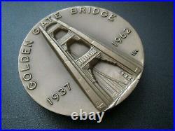 GOLDEN GATE BRIDGE 25th Anniversary SAN FRANCISCO Bronze Medal MEDALLIC ART N. Y