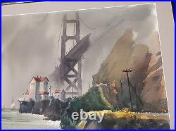 Golden Gate, Fog, San Francisco, California Landscape, Asian-American Jade Fon Woo