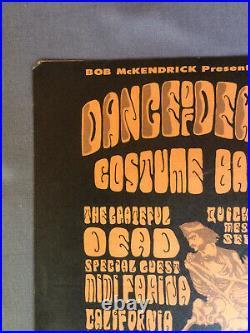 Grateful dead Halloween costume ball/California Hall/SanFrancisco/Handbill