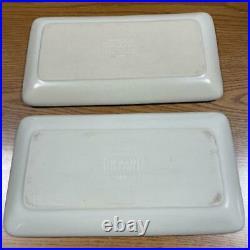 HEATH CERAMICS Set of 2 Square Plate Platter SAUSALITO 508 San Francisco