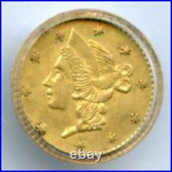 HR5 ND RD Liberty Head G25C California Gold / BG-207 PCGS MS63