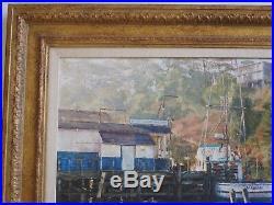 Henry Richards Painting California San Francisco Impressionism American Marina