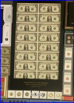 Huge Estate Lot Silver+ Gold Coins, Uncuts, Many Collectibles, Worth $1300, 124