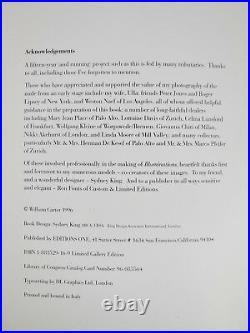 ILLUMINATIONS, William Carter 1996 SIGNED ORIGINAL PRINT 45/300 B/W Nudes