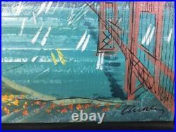 John Checkley San Francisco California O/B Golden Gate Bridge Mid Century MOD
