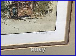 Josef Eidenberger San Francisco California Street Signed Framed