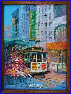 KEE FUNG NG (b. 1941) California MID-CENTURY MODERN Oil San Francisco VINTAGE